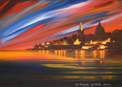 Valletta-lights-painting